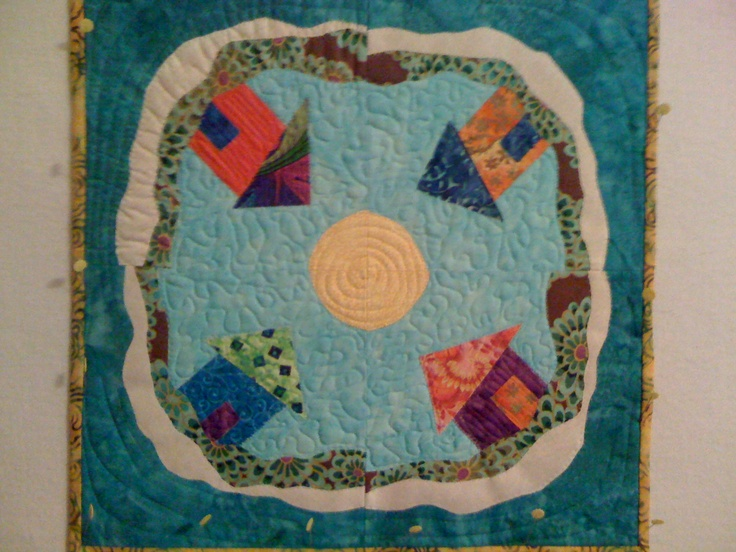 My quilt version of Anna Maria Island