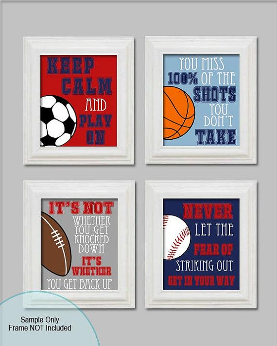 8x10 sports boys bedroom decor sports soccer football for 8x10 bedroom