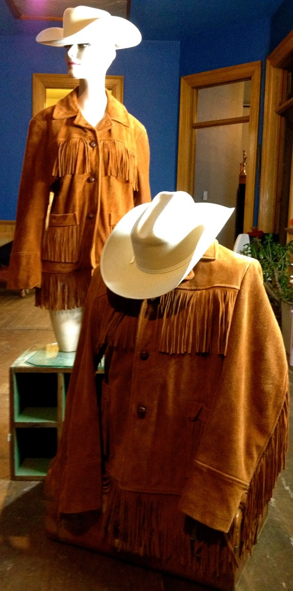 Mens Calgary Stampede Suede Leather Fringe Brown by TheJavaShop, $115.00