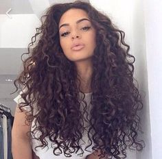 balayage highlights on hispanic naturally curly hair - Google Search