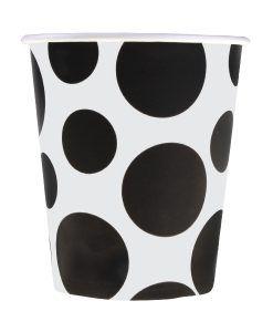 Bütün parti süslemeleri için tasarlanmış kullan at özellikli Siyah Puantiyeli Karton Bardak ürünümüzü sitemizden uygun fiyatlar ile satın…