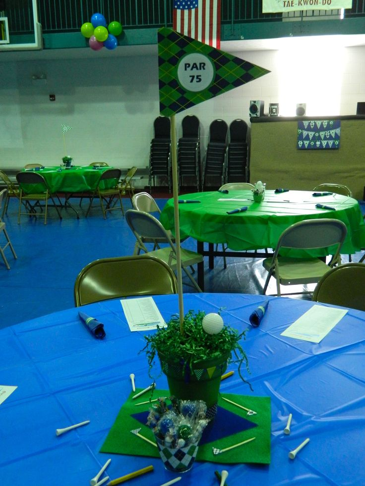 Golf themed 75th birthday party party decorating ideas for Golf decoration ideas