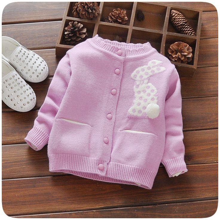 2017 Fashion Children Sweater Autumn Winter Warm Girls Knitted Sweaters Baby Outwear
