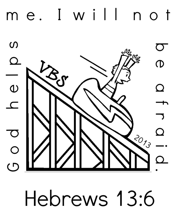 roller coaster coloring page - Hebrews 13 8 Coloring Page