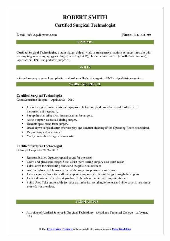 Surgeon Preference Card Template Treatment Plan Template Receptionist Jobs Internship Resume