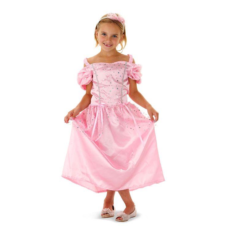 Verkleed je als een echte prinses met deze mooie prinsessenjurk inclusief tiara.Afmeting:  geschikt voor kinderen van 3-5 jaar - Verkleedset Traditionele Prinses - S