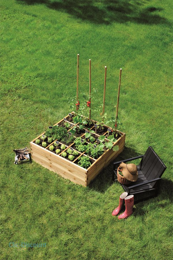 Carre potager de jardin clic-discount Check out the website to see more