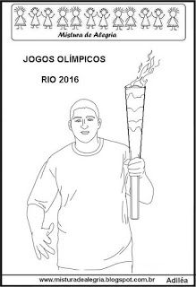 Tocha Olimpica 2016 Desenho Texto E Atividade Imprimir E