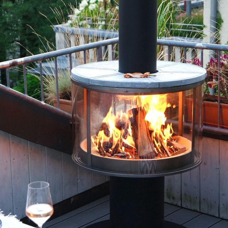 Feuerstelle Grill In 2020 Contemporary Garden Outdoor Bbq Outside Fire Pits