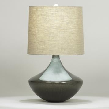 (H) Calico Table Lamp, Linen Shade, 3-way 150W