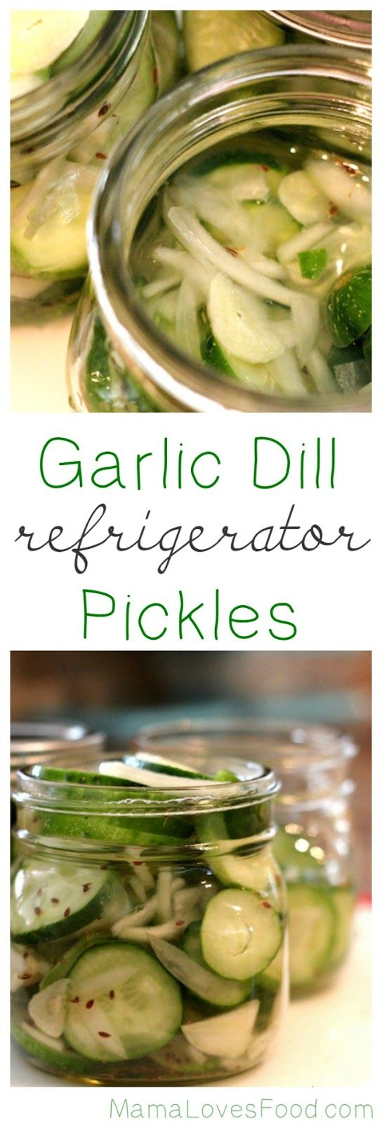 Garlic Dill Refrigerator Pickles.