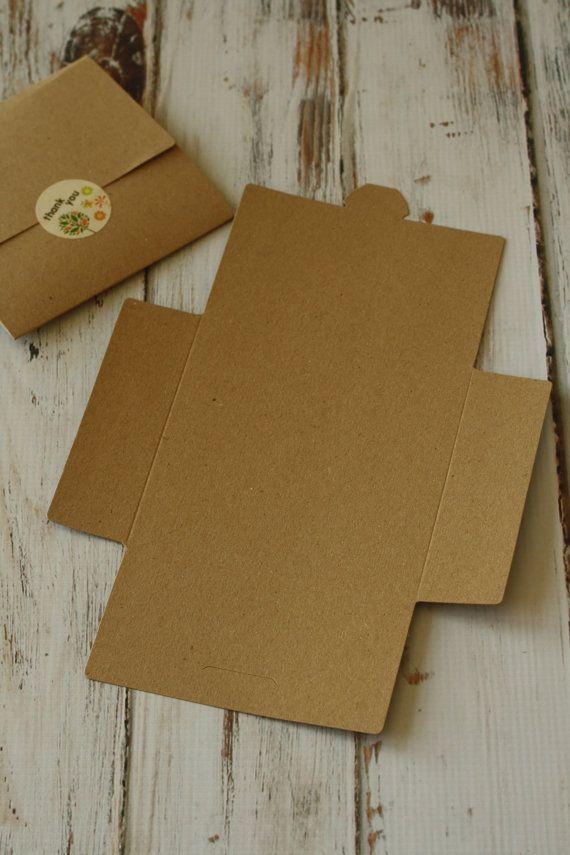 Plain KRAFT eco friendly diy NO Glue CD sleeve envelopes