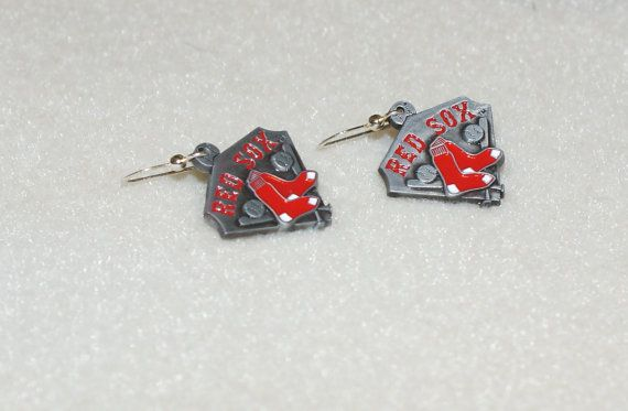Boston Red Sox Earrings by susieqdesigns on Etsy, $12.99