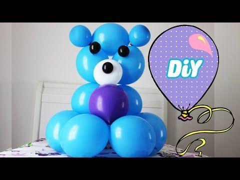 Como Fazer URSO de balão - bear balloon - YouTube