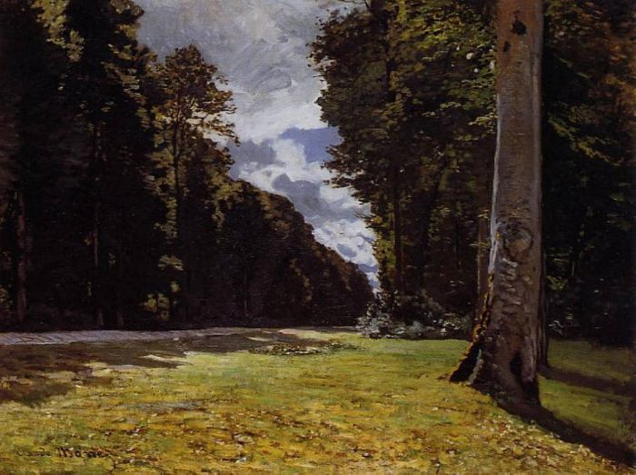 1865. The Pave de Chailly in the Fontainbleau Forest.
