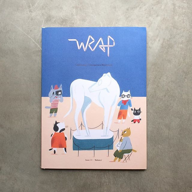 I love this magazine so much! The fact that it is magazine + wrapping paper with super cool designs from the artists they interview is fascinating. I think I have to buy two next time: one for collecting and the other one so I can use the paper!! @wrap_magazine | issue 11 | editor in chief: Polly Glass  #publishing #print #indiemag #wrap #magazine #wrappingpaper