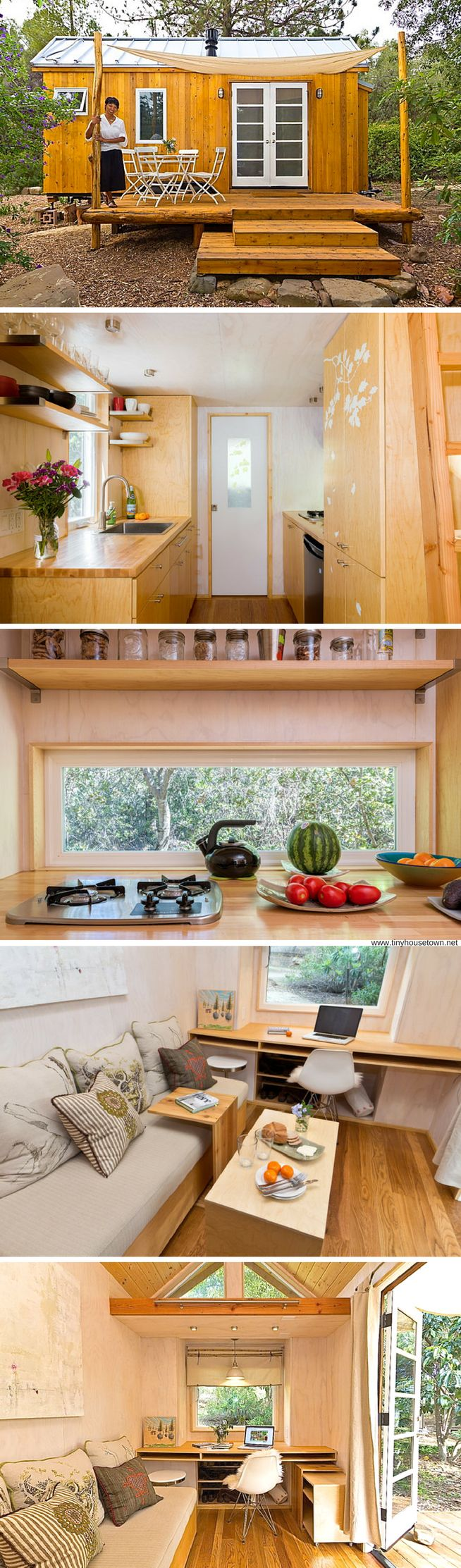 Vina's Tiny House: a 140 sq ft home in California with an eco-friendly footprint