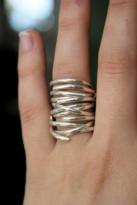 Going in Circles Sterling stacking ring set of 3