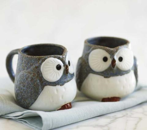 cuteness overload!!! -  Owl Mugs And Tea Set