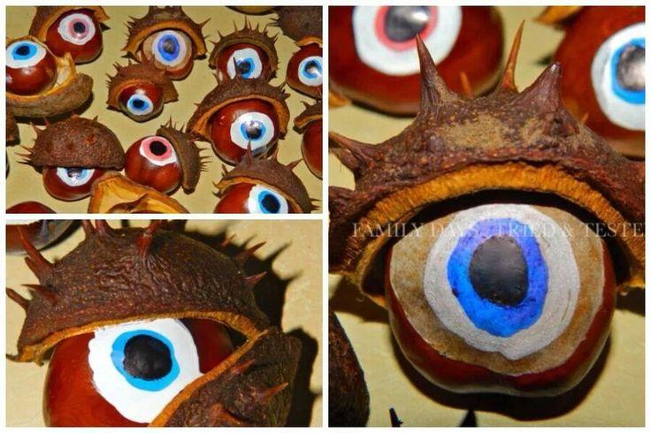 Monster conker eyes! Spooooky!