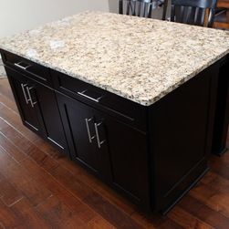 Espresso Cabinets With Caramel Fantasy Granite Google