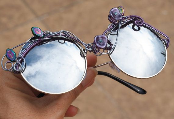 Boho sunglasses/Hippie glasses/Wire wrapped by Ianira on Etsy