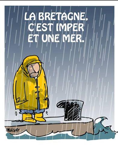 La Bretagne c'est imper et une mer.