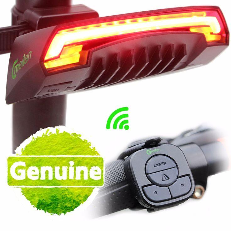 Meilan Smart Fietslicht Bike Rear Remote Draadloze Licht Richtingaanwijzer Led-achterlicht Laserstraal USB Laste Fietsen