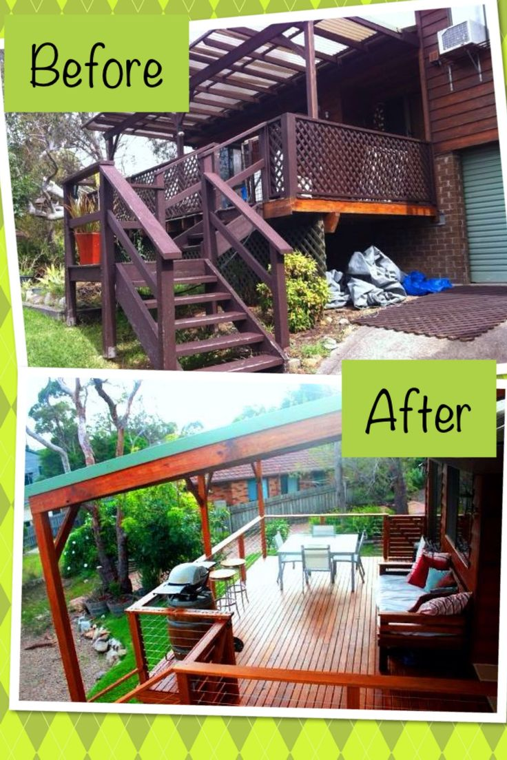 This was a deck extension and renovation. It's been done in Australian hardwood (Blackbutt) and the owners love their new deck!
