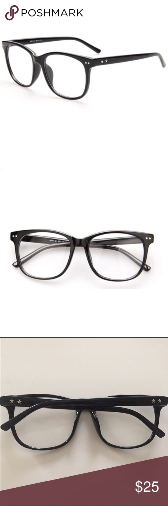 RESTOCKED Black Frame Clear Lens Glasses NWOT These black two tone glasses are a staple piece for any outfit. Fake it 'til you make it in these faux reading glasses with perfectly rectangular lenses set inside black classic frames. Perfect for everyday wear!  • Fast shipping! Same day/ Next morning depending on when purchased.  • Bundled discounts Urban Outfitters Accessories Glasses
