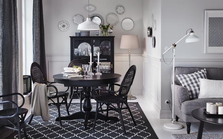 INGATORP tafel | IKEA IKEAnl IKEAnederland uitschuifbaar eetkamer eten drinken diner keuken landelijk klassiek traditioneel inspiratie wooninspiratie interieur wooninterieur zwart