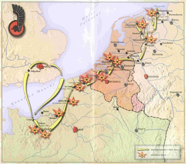 The Liberation Route of the 1st Polish Armoured Division.