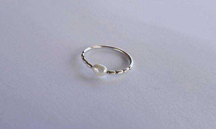 Silver Pearl Ring. #pearljewelry #fashion #rings #handamde #localzadesign