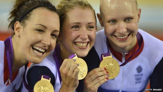 BBC Sport - Olympics cycling: British women win team pursuit track gold