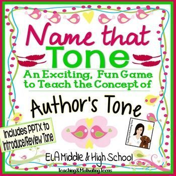 Author's Tone ELA Game - Middle and High School - CCSS