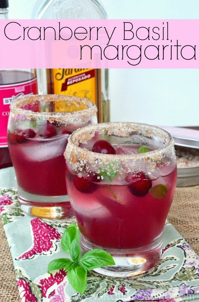cranberry basil margarita from KatiesCucina.com #drinks this looks SO delicious!