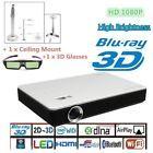 7100 Lumens 4-KHD 1080P Home Theater Cinema'LED DLP 3D Wifi Smart Projector HDMI