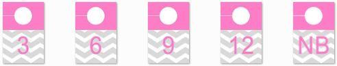 diy chevron, modern 4x6 photo closet dividers for nursery in pink - adorkableduo.com
