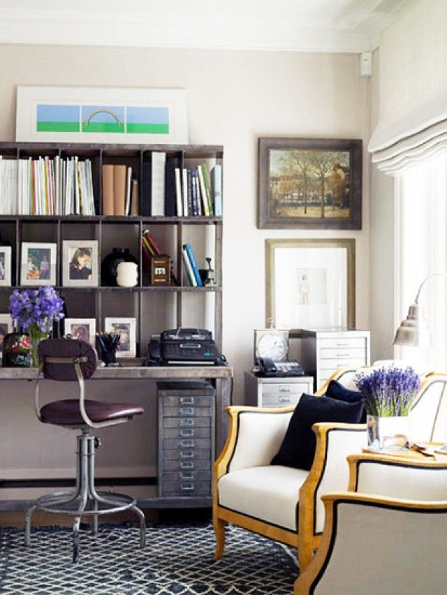 Vintage Home Office + Study Den - Tips For Beautiful Organization // Domaine Home #organization #homeoffice #study-quarters