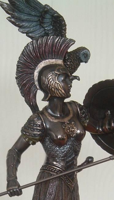 Bronze Statue Of Athena With Helmet Detail Head High-Res ...  |Athenas Greek Helmet