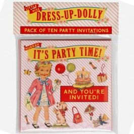 dotcomgiftshop uitnodigingskaarten - dress up dolly