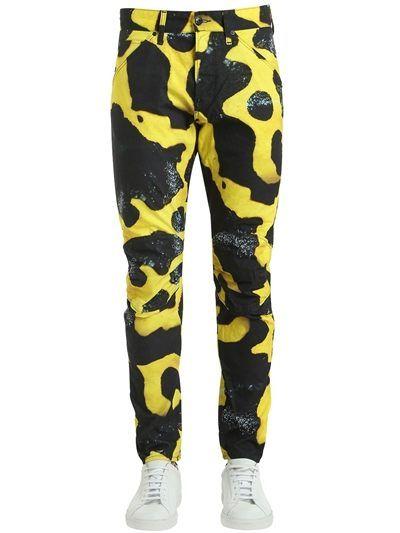 49cfc12f9a0 G-STAR BY PHARRELL WILLIAMS, Elwood bumblebee poison frog print jeans,  Black/yellow, Luisaviaroma