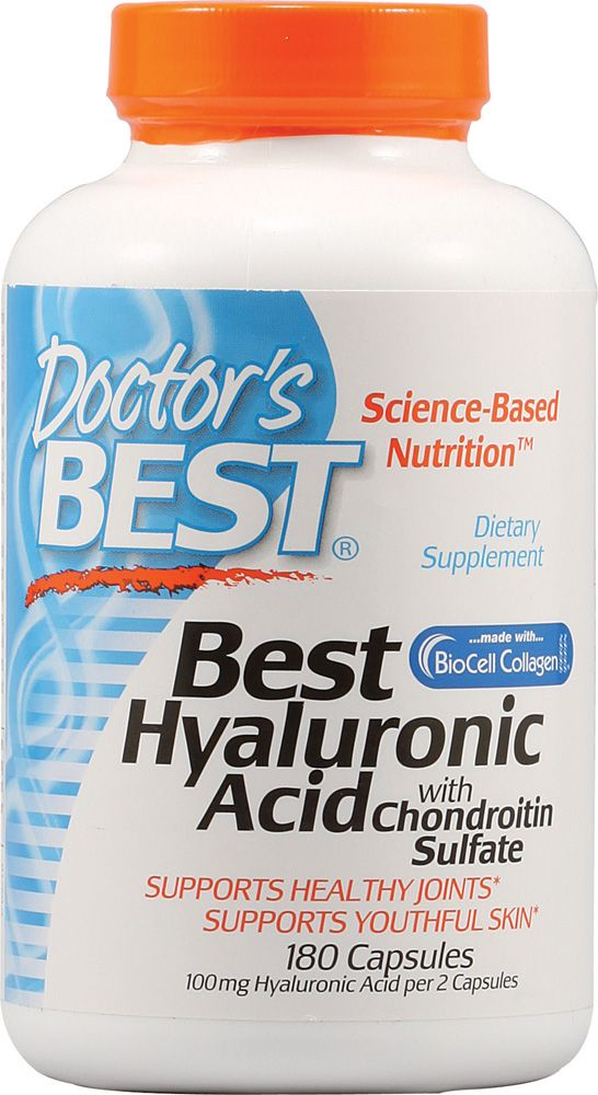 Doctor's Best Hyaluronic Acid with Chondroitin Sulfate -- 100 mg - 180 Capsules - Vitacost