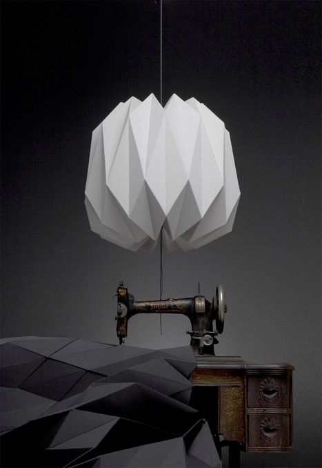 Fractales Lamps by Dario Stanziano and Batti textile pendant lamp