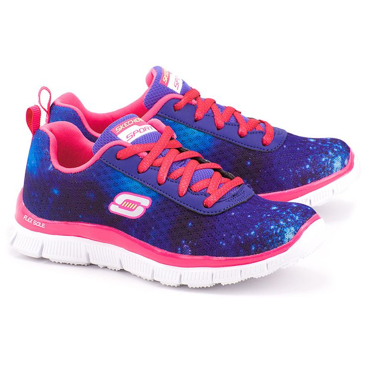 SKECHERS Color Clash - Fioletowe Nylonowe Sportowe Dziecięce - Mivo #mivo #mivoshoes #shoes #shoesaddict #skechers #sport #kids #colorful #colors #pink #print #pattern #runningshoes #summer