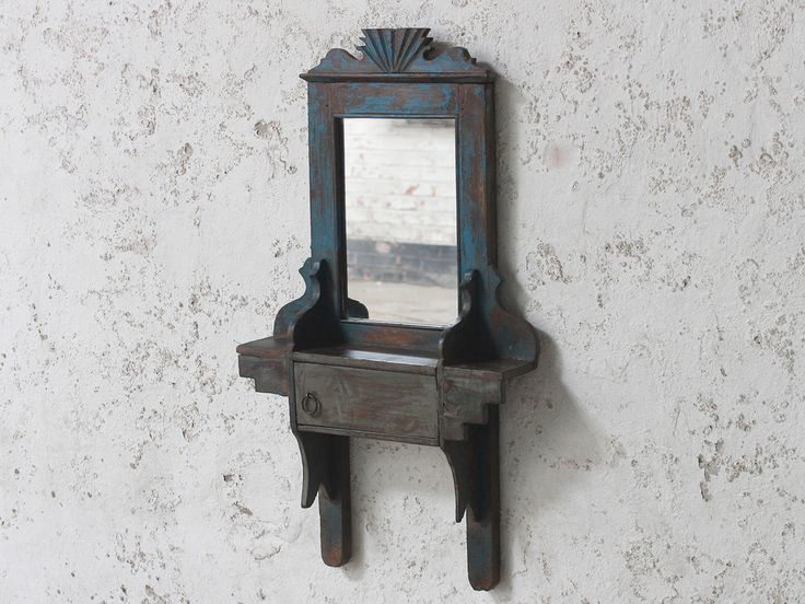 Blue Vintage Mirror from scaramanga's vintage furniture and interior collection #vintage #interior #homeinspo #inspiration #ideas #homedecorideas #mirror #blue