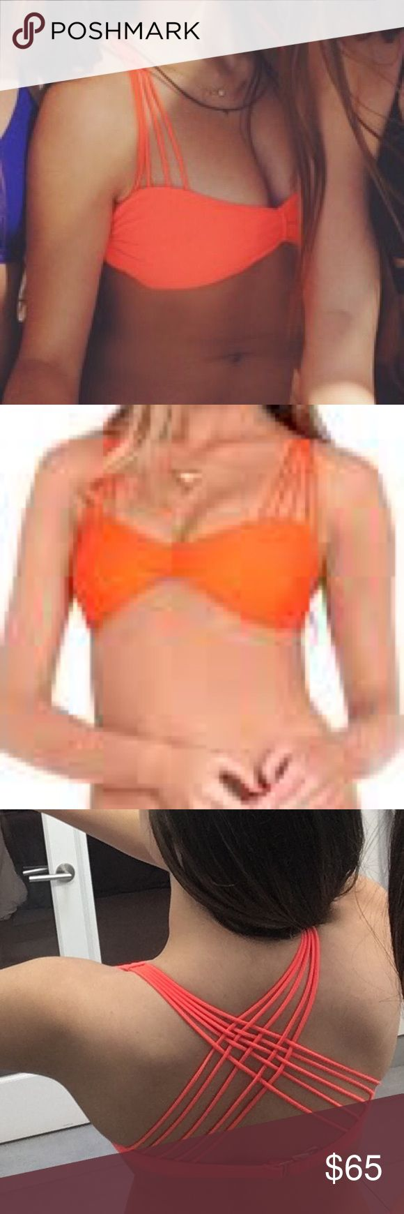 Luli Fama Orange Bandeau Top So cute for summer! Worn once! Fits sizes A-C Luli Fama Swim Bikinis