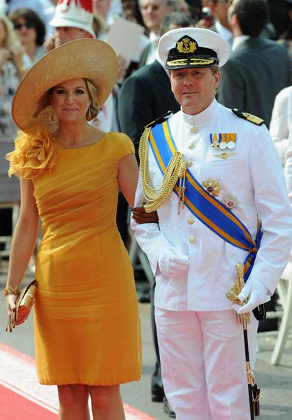 Princess Maxima of the Netherlands and Willem-Alexander Prince of Orange and heir to the Dutch throne