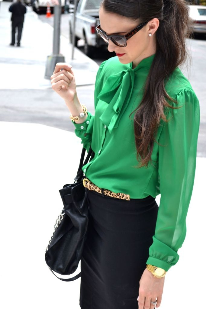 Pinterest Green Blouse 37