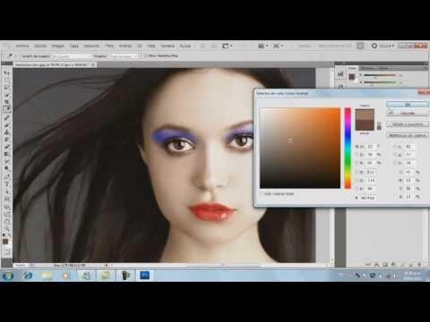 maquillaje en photoshop español - fotos retoques-para editar fotos, fotografia. - YouTube